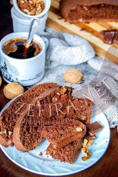 Шоколадные бискотти - рецепт и фото