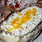 Салат из шампиньонов с омлетными блинчиками