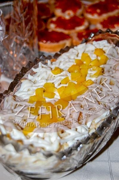 Салат с курицей и омлетом - Пошаговый рецепт с фото | Салаты