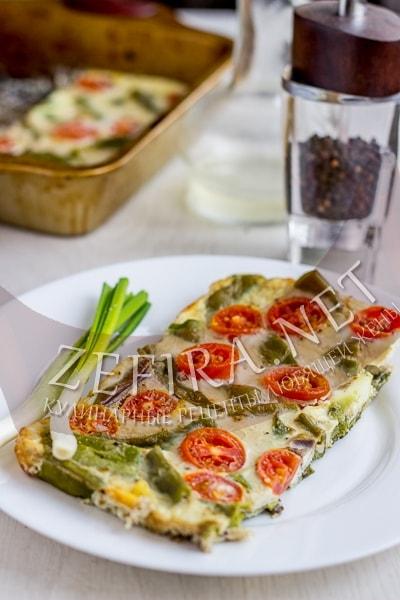 Рецепт стручковой фасоли, запеченной с яйцом - рецепт и фото