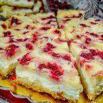 Творожный насыпной пирог со смородиной