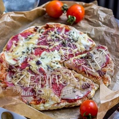 Быстрая пицца на сковороде на кефире