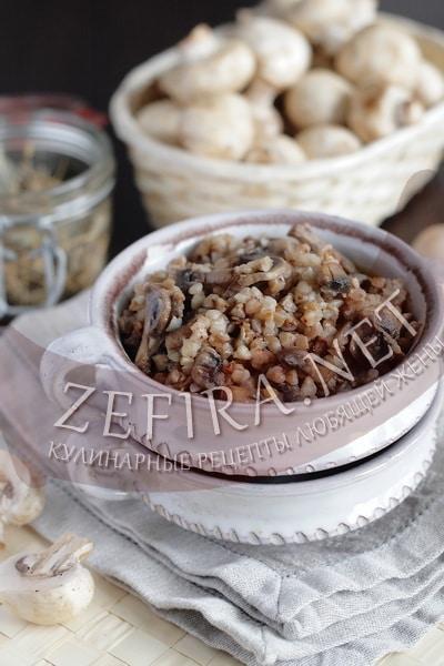 Гречневая каша с грибами и луком - рецепт и фото