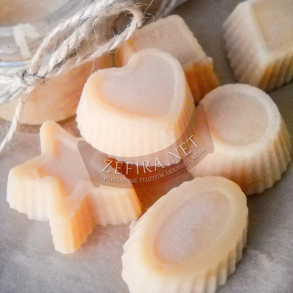 Рецепт домашних конфет ирисок из сметаны и сахара