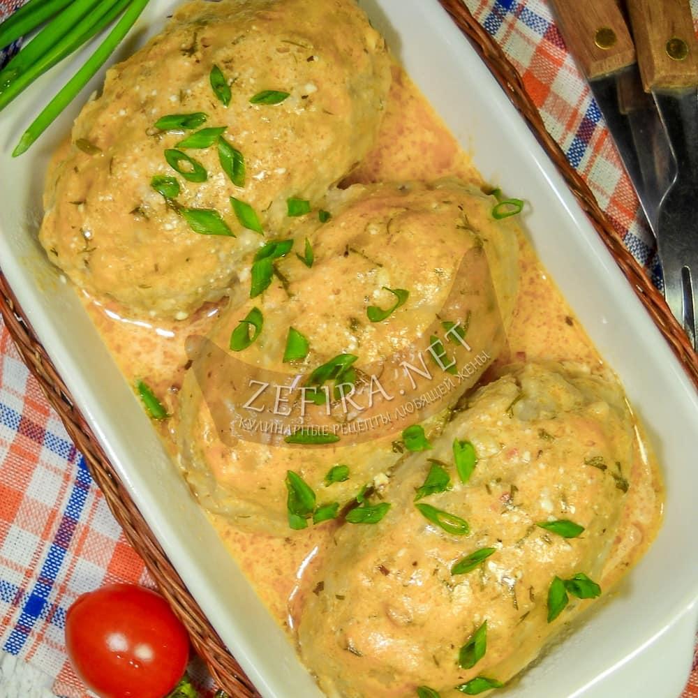 Гречаники с сыром и помидорами, запеченные в духовке