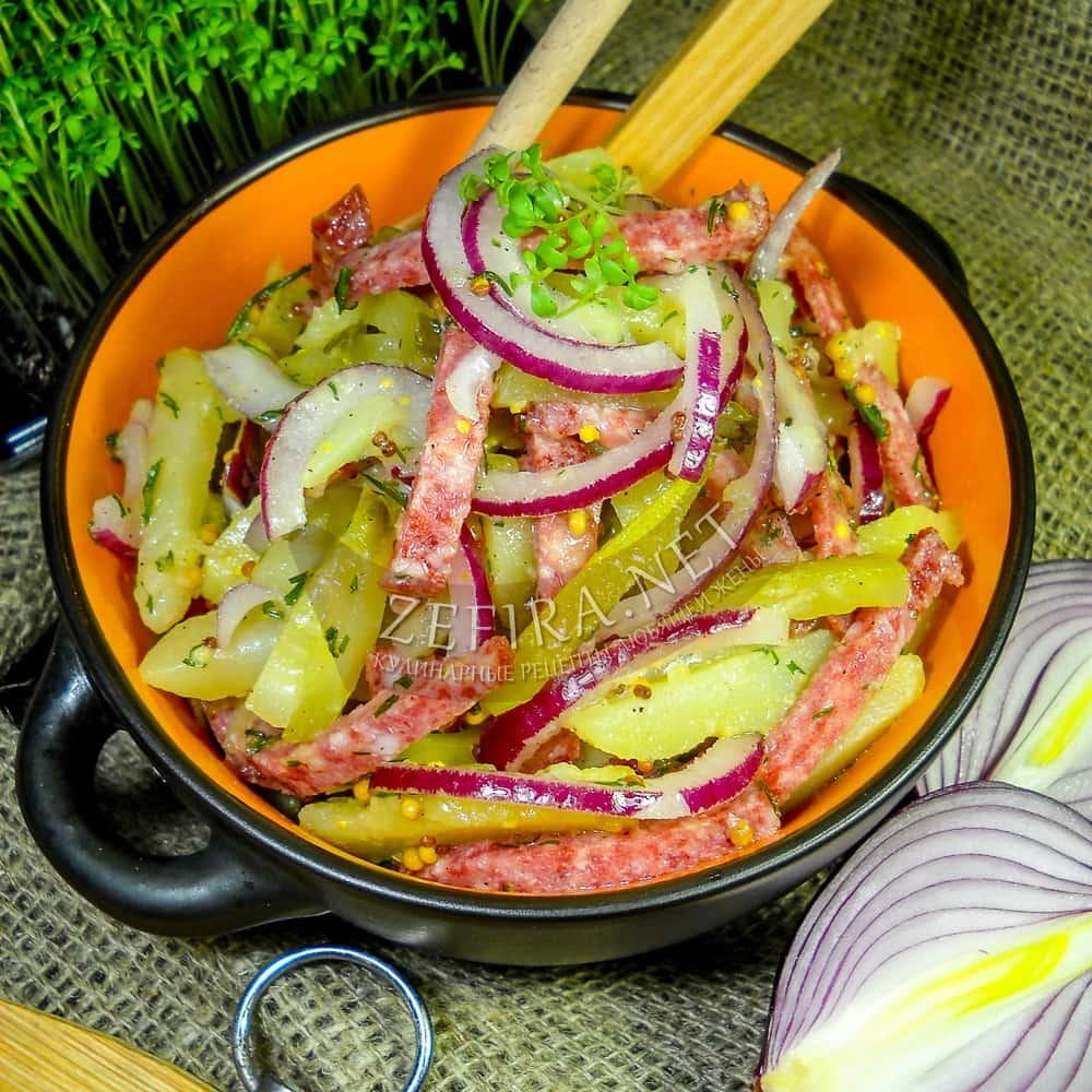 Картофельный салат с салями