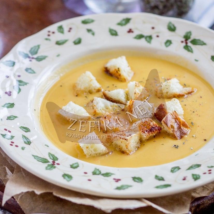 Суп-пюре из топинамбура с плавленым сыром