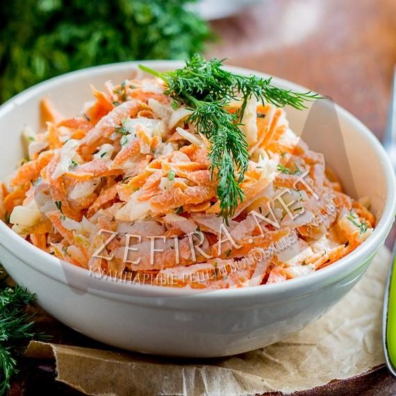 Салат из топинамбура с морковью и сметаной