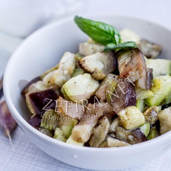 Вкусные и быстрые кабачки и баклажаны в духовке