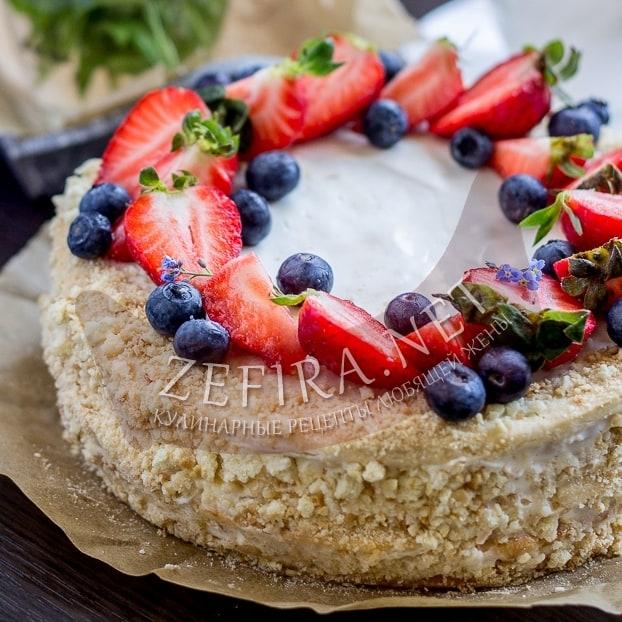 Рецепт торта со сметанными коржами и сметанным кремом