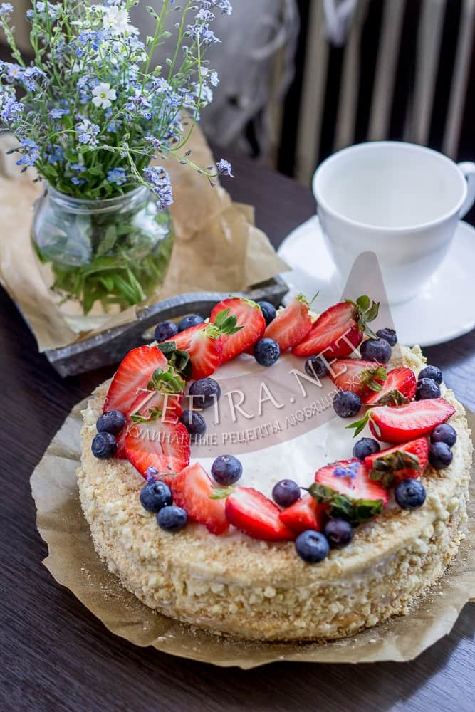 Нежный торт на сметанном креме