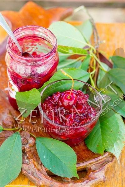 Варенье из кабачков и вишни