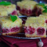 Сметанный пирог с вишней
