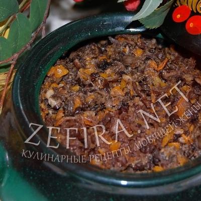 Вкусная грибная икра из вареных грибов через мясорубку