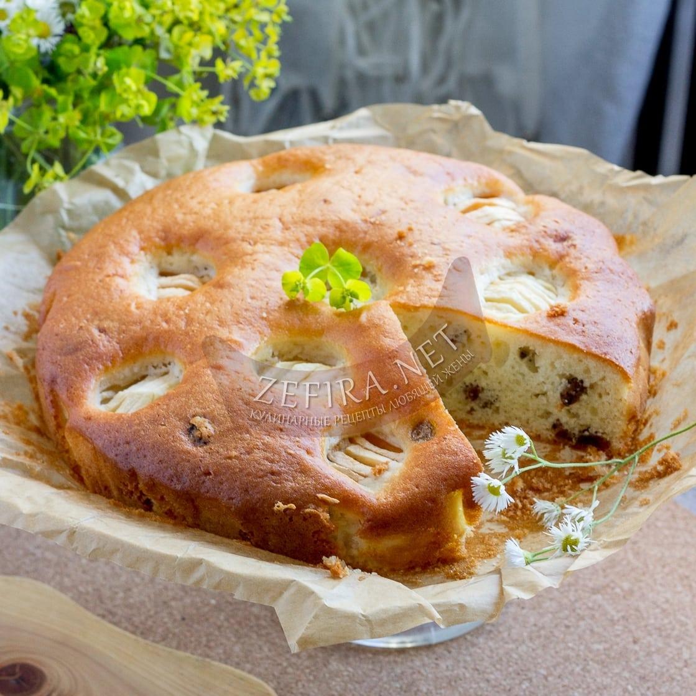 Вкусный яблочный пирог на сметане