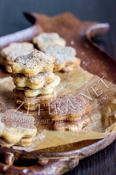 Песочное печенье с сахаром и корицей