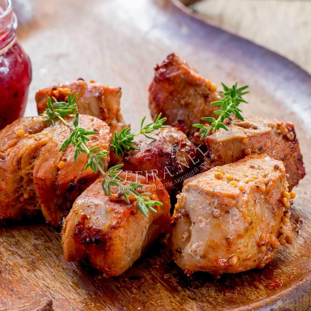 Шашлык из свинины в медово-горчичном маринаде