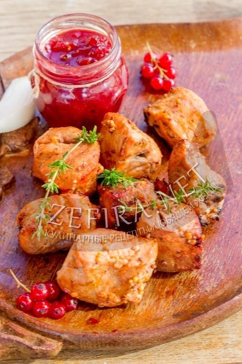 Свиной шашлык в медово-горчичном маринаде