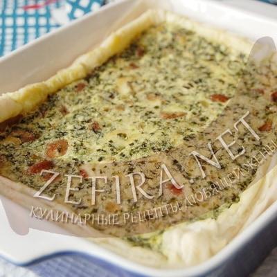 Слоеный пирог со шпинатом и сыром