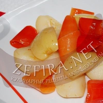 Перец, маринованный на зиму с яблоками