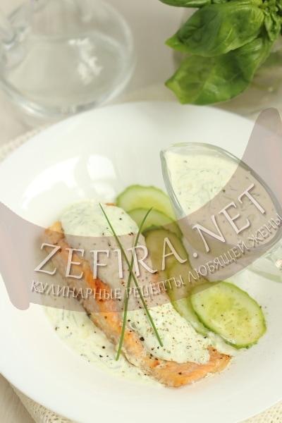 Рыба под сметанным соусом
