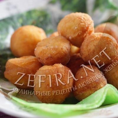 Рецепт воздушных пончиков из творога, жаренных в масле