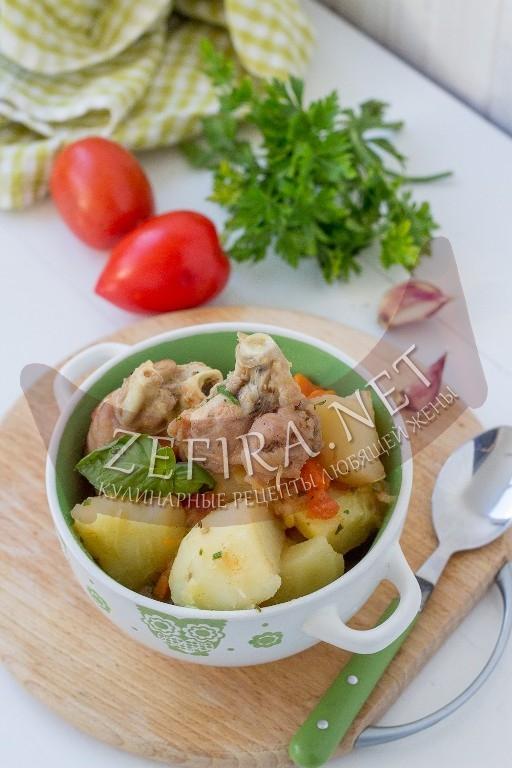 Индейка тушеная с картошкой - рецепт и фото