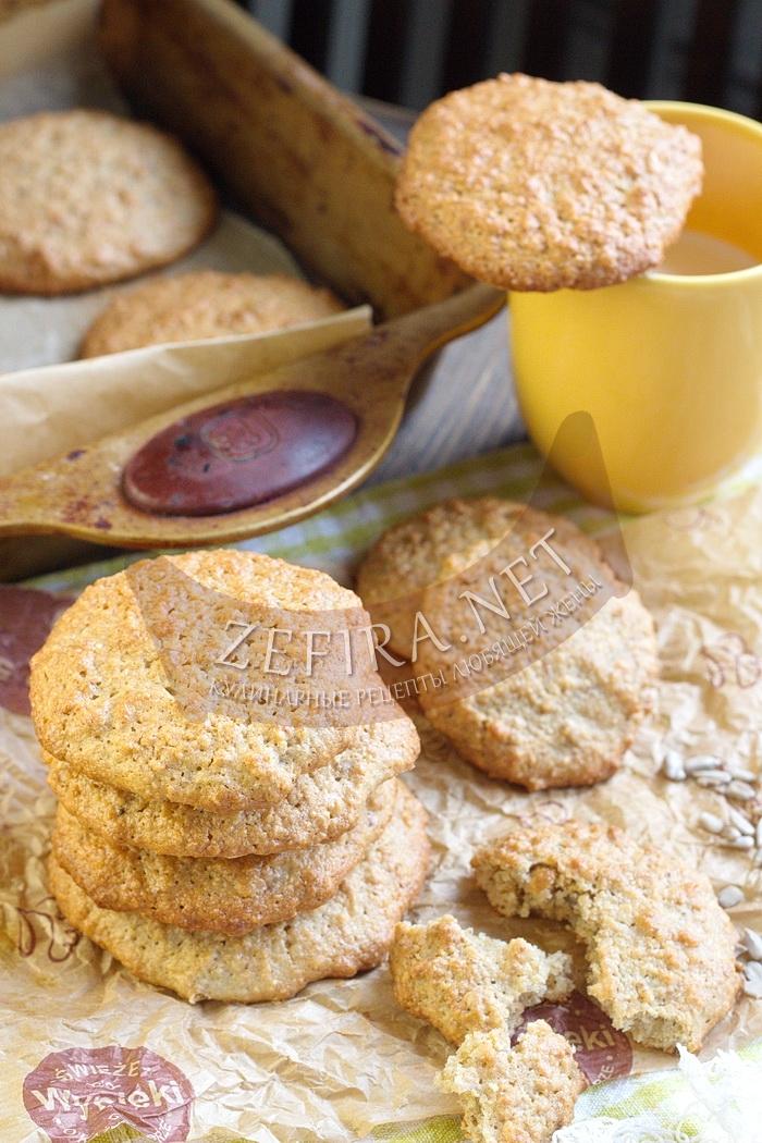 Печенье из овсяных хлопьев без муки и сливочного масла - рецепт и фото