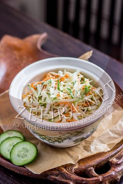 Салат с курицей, корейской морковью и пекинской капустой - рецепт и фото