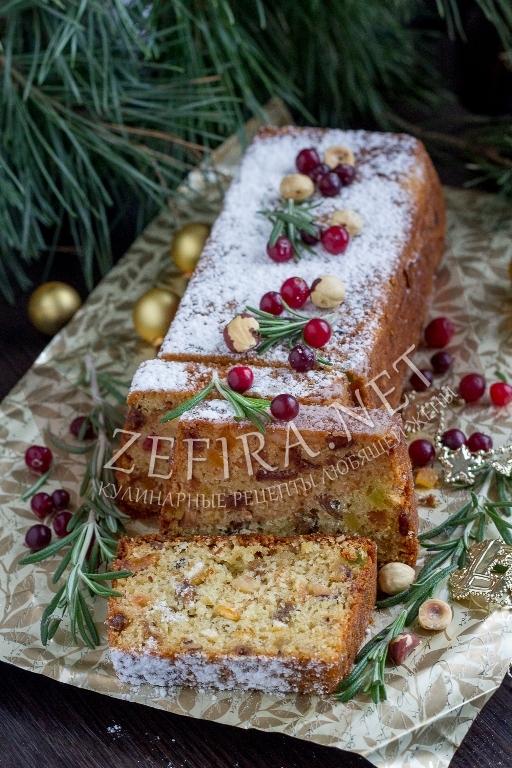 Праздничный кекс с сухофруктами - рецепт и фото