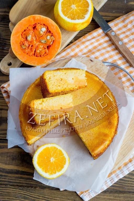 Вкусный манник с тыквой на кефире - рецепт и фото