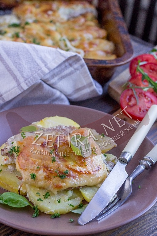 Мясо по-французски с картошкой - рецепт и фото