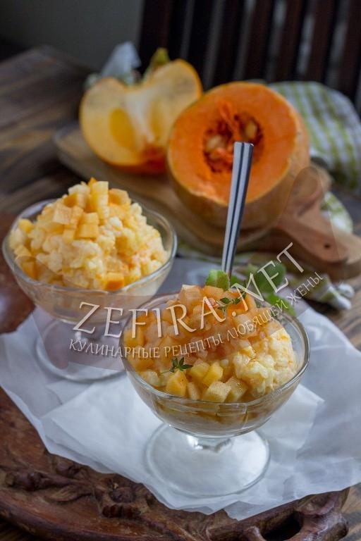 Рисовая каша с тыквой - рецепт и фото